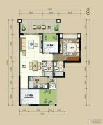 丽港华府3室2厅2卫93平方米户型图