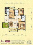 梦幻谷・�|方�A府3室2厅2卫125平方米户型图