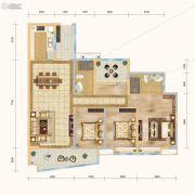 实地蔷薇国际3室2厅2卫126平方米户型图