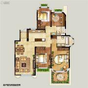 弘阳上湖4室2厅2卫125平方米户型图