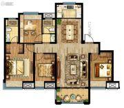 联发星领地4室2厅2卫126平方米户型图