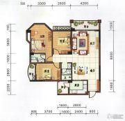 府前雅居苑3室2厅2卫121平方米户型图