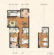 九洲金东方2室2厅2卫118平方米户型图