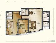 新华联运河湾2室2厅2卫96平方米户型图
