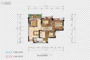 希望・玫瑰园3室2厅2卫87平方米户型图