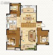 中海蓝湾3室2厅1卫142平方米户型图