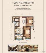 美景九悦山2室2厅1卫81平方米户型图