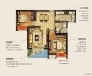 华润幸福里2室2厅1卫83平方米户型图
