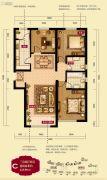禧福 荷堂3室2厅2卫123平方米户型图