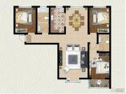 翡翠�m亭3室2厅2卫125平方米户型图
