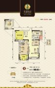 翡翠名都3室2厅2卫100平方米户型图