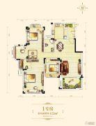 中渝梧桐郡122平方米户型图