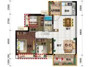 金穗・悦景台3室2厅1卫100平方米户型图