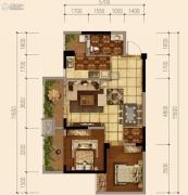 天府欧城2室2厅1卫67平方米户型图