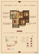 华锦锦园2室2厅1卫86--87平方米户型图