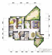 新鸿基悦城3室2厅2卫130平方米户型图