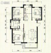 祥泰香榭花堤3室2厅2卫107平方米户型图