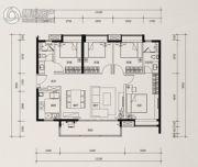 时代花城4室2厅2卫114平方米户型图