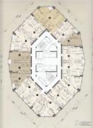 凯德国贸1室1厅1卫77平方米户型图