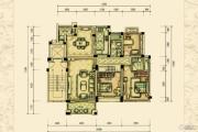 恒隆花园3室2厅2卫0平方米户型图
