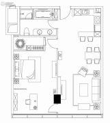 狮山中心1室2厅1卫0平方米户型图