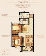 新城里2室2厅1卫84--85平方米户型图
