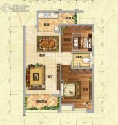 慧川温莎国际2室2厅1卫88平方米户型图