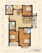 城南春天3室2厅2卫128平方米户型图
