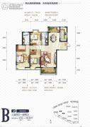 中国铁建国际城3室2厅2卫163平方米户型图
