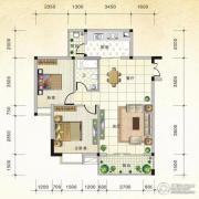 国际新城2室2厅1卫84平方米户型图