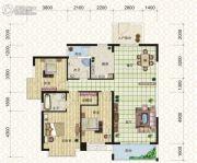 天元翡翠国际3室2厅2卫131平方米户型图