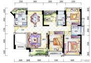 幸福港湾二期3室2厅2卫120平方米户型图