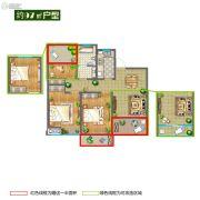 香堤春晓3室2厅1卫97平方米户型图