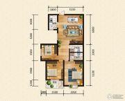 汉成华都3室2厅2卫128平方米户型图