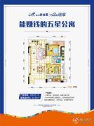 株洲碧桂园2室2厅1卫99平方米户型图