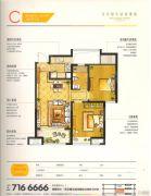 宝龙城市广场2室2厅1卫66--69平方米户型图