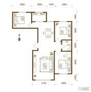 物华兴洲苑3室2厅1卫114平方米户型图