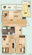 龙泽・金水尚都2室1厅1卫0平方米户型图
