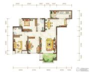 金隅时代都汇2室2厅2卫82平方米户型图