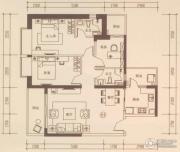 海伦国际3室2厅2卫117平方米户型图