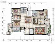 大信君汇湾4室3厅3卫275平方米户型图