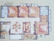 万科华府4室2厅2卫0平方米户型图
