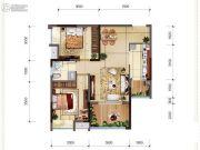 首创光和城2室1厅1卫64平方米户型图