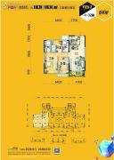 碧桂园银河城3室2厅2卫118平方米户型图