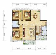 金钻国际3室2厅2卫133平方米户型图