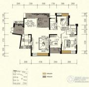中锴・华章3室2厅2卫130平方米户型图