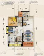 碧桂园・半岛1号3室2厅2卫98平方米户型图