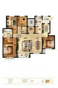 天山��玺4室2厅2卫168平方米户型图