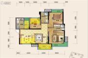 源上湾国际社区3期D区3室2厅2卫98平方米户型图