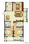 佳源广场3室2厅2卫131平方米户型图